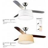INSP. Leds BELMONT Wentylator sufitowy z lampą satyna 30-4357-81-82 + PAN