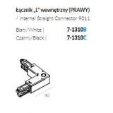 INSP. LABRA TRACK 3F Łącznik L wewnętrzny (PRAWY) biały , czarny 7-1310