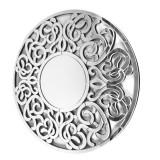 INSP. Altea 100 x 100 cm , okrągłe lustro dekoracyjne w ażurowej lustrzanej ramie