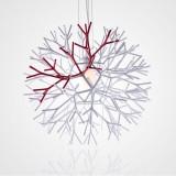 INSP. Lampa wisząca CORAL REEF , biało czerwona 62 cm