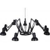 INSP. Lampa wisząca SPIDER 9 , czarna