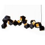 INSP. LAMPA WISZĄCA , NEW GEOMETRY 14 , czarno złota 142 cm