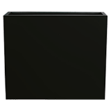 INSP. Donica Steel Plus , czarna , biała  65 x 25 x 75 cm