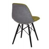 Krzesło P016W Duo ziel. szare/black