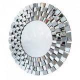 INSP. lustro dekoracyjne Eris 100 x 100 cm w ramie lustrzanej