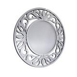 INSP. Okrągłe lustro dekoracyjne Strozzi 100 x 100 cm w ramie lustrzanej