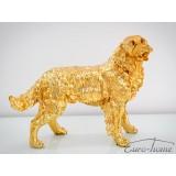 INSP. FIGURA PIES GOLDEN RETRIEVER 54 x 44 x 24cm , ZŁOTY , SREBRNY , CZARNY , BIAŁY