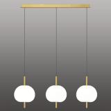 INSP. Ekskluzywna lampa wisząca APPLE 3 LED , złoto biała