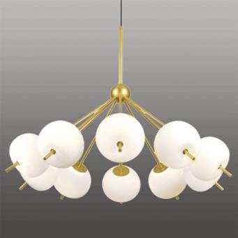 INSP. Ekskluzywna lampa wisząca APPLE 10 LED , złoto biała