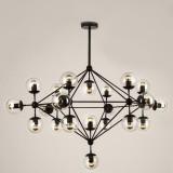 INSP. Lampa wisząca ASTRIFERO 21 , bursztynowa , transparentna 165 cm