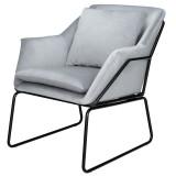 INSP. Designerski fotel FLUENCE , welurowy szary , ciemnozielony , miętowy