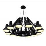 INSP. Lampa wisząca SPIDER 16 czarna , 215 cm