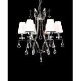 INSP. Lumina Deco GLAMOUR Lampa wisząca kryształowa 66 cm biała , brązowa