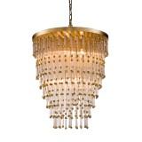 INSP. PALLERO Dahlia Lampa wisząca kryształowa 35 cm złota