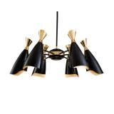 INSP. PALLERO Simone Lampa wisząca nowoczesna 80 cm czarny, złoty