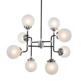 INSP. PALLERO Bistro Lampa wisząca nowoczesna 90 cm czarny, srebrny