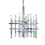 INSP. PALLERO Miller Lampa wisząca nowoczesna 62 cm srebrna