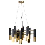 INSP. Lampa wisząca GOLDEN PIPE 13 , czarno złota 60 cm