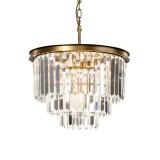 INSP. PALLERO Delion Lampa wisząca kryształowa 50 cm , srebrna