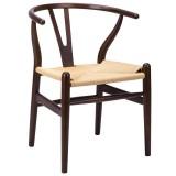 INSP. King Home KRZESŁO WISHBONE drewno bukowe , naturalne włókno