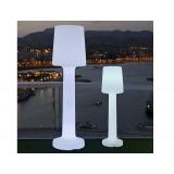INSP. NEW GARDEN lampa ogrodowa CARMEN 110 B biała - LED , wbudowana bateria