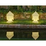 INSP. NEW GARDEN lampa ogrodowa GOA 40 C biała - LED