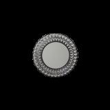 INSP. Okrągłe ażurowe lustro Marsylia , Black , Silver