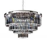 INSP. PALLERO Delion Lampa wisząca kryształowa 80 cm mosiężna , srebrna