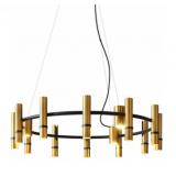 INSP. lampa wisząca Torch Ring Brass 9 reflektorów -  65 cm