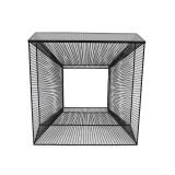 INSP. Eurohome Nowoczesna metalowa konsola 3D z grafitową szybą 80 x 35 x 81 cm TOYJ19-213