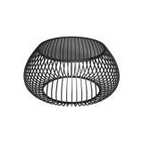 INSP. Eurohome Druciany stolik kawowy szklany grafitowy blat Ø75 x 63,5 cm TOYJ19-526
