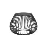 INSP. Eurohome Druciany stolik kawowy szklany grafitowy blat Ø58 x 40,5 cm TOYJ19-527