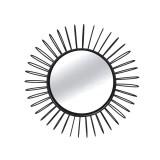 INSP. Eurohome Okrągłe czarne lustro słońce Ø101 x 11 cm TOYJ19-342B