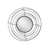 INSP. Eurohome Okrągłe lustro czarna metalowa rama z drucików Ø 105 cm TOYJ19-377