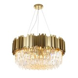 INSP. Lampa wisząca Pipe Organ Crystal Chandelier Brass , Gold , Chrome  60 cm