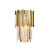 INSP. Kinkiet ścienny Pipe Organ Wall Brass M kryształowy 45 cm , mosiądz , chrom