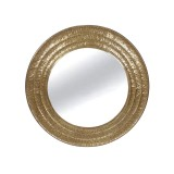 INSP. Eurohome Okrągłe lustro złoty metal mosiądz Ø 101 cm TOYJ19-338