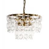 INSP. PALLERO Belle Lampa wisząca kryształowa 40 cm złoty