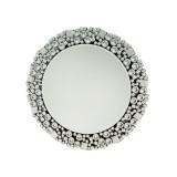 INSP. Eurohome Okrągłe lustro z kryształkami w stylu glamour 13tm171M