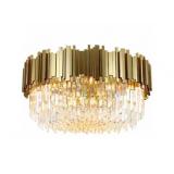 INSP. Plafon Pipe Organ Crystal Chandelier 45 cm , Brass , chrom