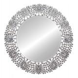 INSP. Lustro okrągłe Peola w lustrzanej dekoracyjnej ramie 88 x 88 cm