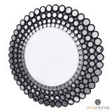 INSP. Lustro okrągłe nowoczesne w ramie z mniejszych okrągłych luster Ines C 120 cm