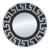 INSP. Nowoczesne okrągłe Lustro Verice Srebrne 80 cm
