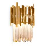 INSP. Kinkiet ścienny Pipe Organ Wall M kryształowy 45 cm , złoty plater