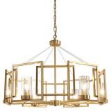 INSP. Lampa wisząca Frames 80 cm , Glass & Brass