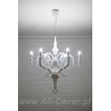 INSP. Lampa wisząca Nowoczesna 90 cm biała , czarna Pap-SU2