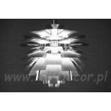INSP. Lampa wisząca Nowoczesna 47 cm srebrna Kar-SU2