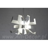 INSP. Lampa wisząca Nowoczesna 20 cm biały Glo-SU1