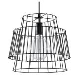 INSP. SOLLUX Designerska Lampa Wisząca GATE Czarna Zwis Stal Nowoczesny Styl Loft Industrial Oświetlenie
