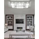 INSP. Dizajnerski plafon STREAM 140 x 75 , chrom
